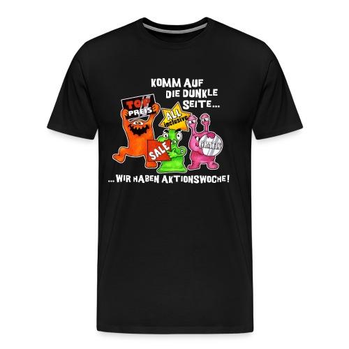 Tshirt komm auf die dunkle seite  - Männer Premium T-Shirt