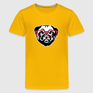 nerd mops with glasses T-shirts - Premium-T-shirt tonåring