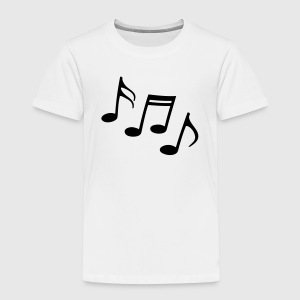 Happy notes Sheet Music musicians  clef  Shirts - Kids' Premium T-Shirt