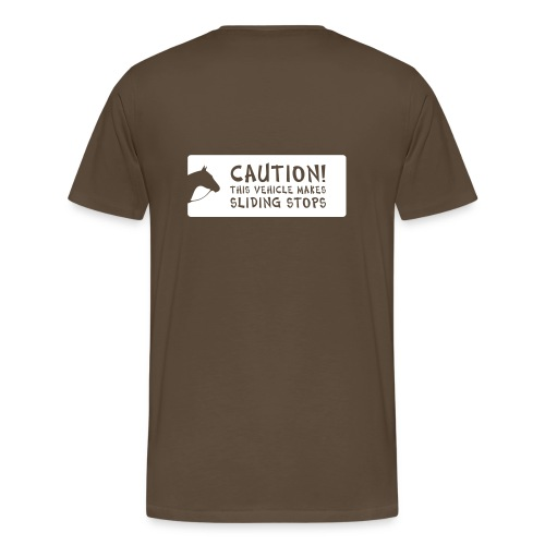 CAUTION - Männer Premium T-Shirt