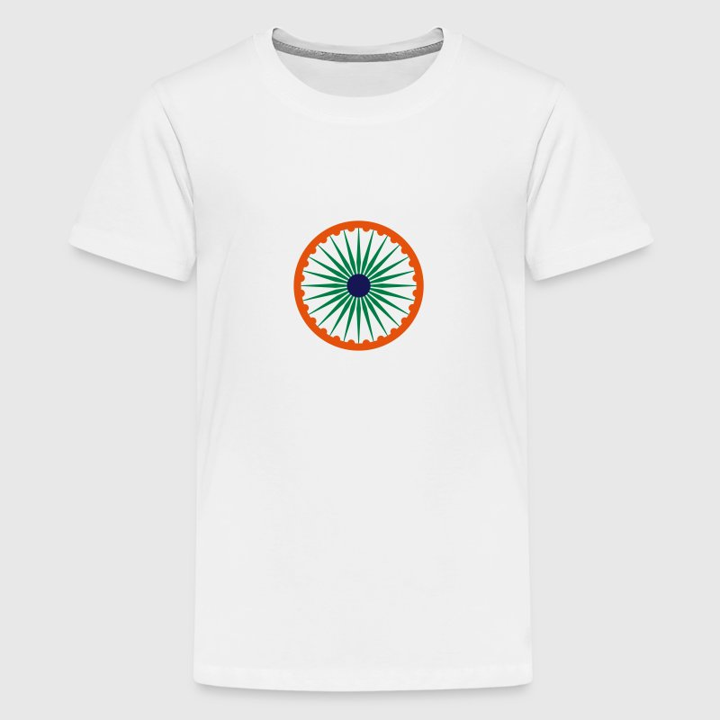 Ashoka Chakra indian flag kids t shirt - Teenage Premium T-Shirt