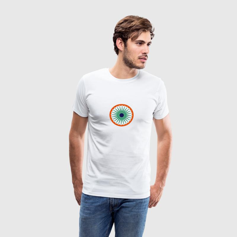 Ashoka Chakra indian flag men t shirt - Men's Premium T-Shirt