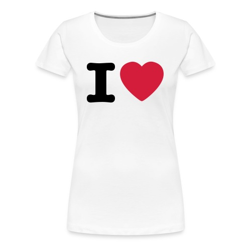 1 love female  - Frauen Premium T-Shirt