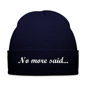 No more said - Winter Hat