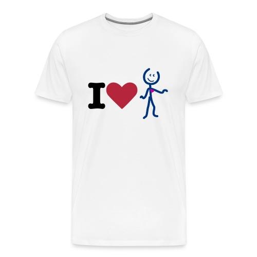I Love Aidy Homme - T-shirt Premium Homme