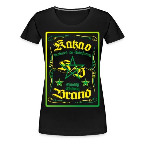 Kakao Whiskey - Frauen Premium T-Shirt