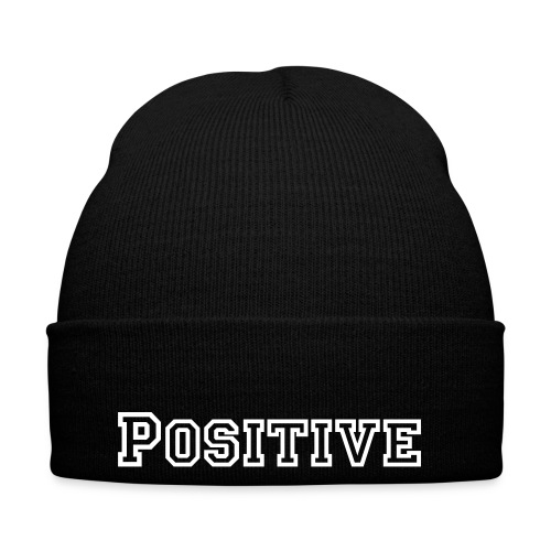 POSITIVE TEXT BEANIE (black) - Vintermössa