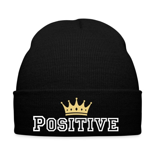 POSITIVE CROWN BEANIE (black) - Vintermössa