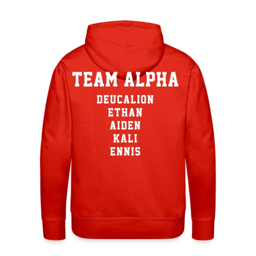 Team ALPHA Players - Hoodie (XL Logo, NBL) - Men's Premium Hoodie