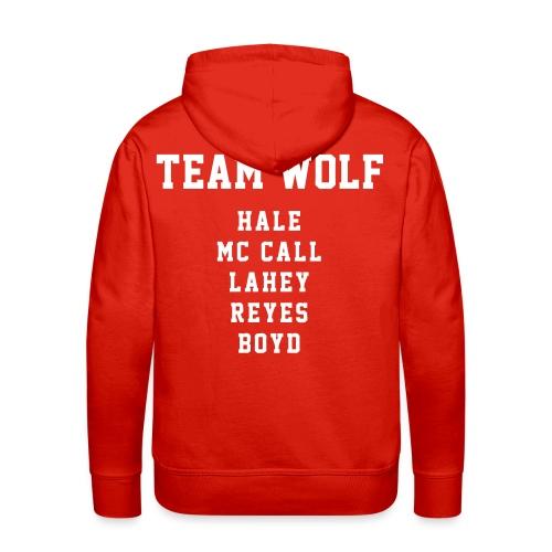 Team WOLF Players - Hoodie (XL Logo, NBL) - Men's Premium Hoodie