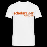 T-Shirts ~ Männer T-Shirt ~ scholarz.net - T-Shirt Weiß