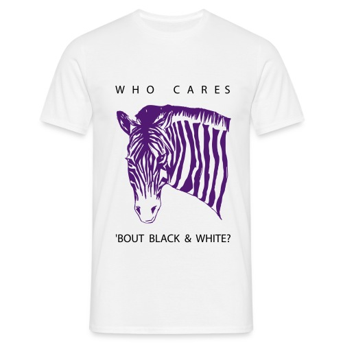 Zebra Who cares - Männer T-Shirt