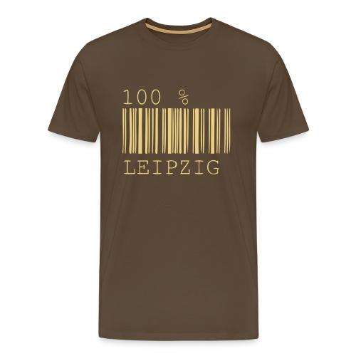 100 % Leipzig T-Shirt Herren braun - Männer Premium T-Shirt