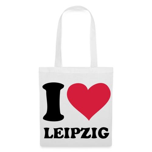 Stoffbeutel Leipzig weiß - Stoffbeutel