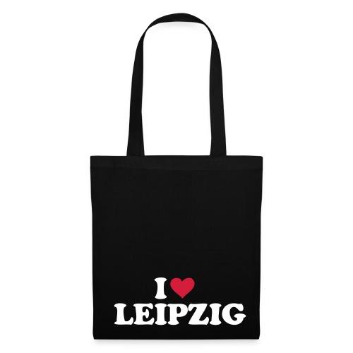 Stoffbeutel Leipzig schwarz - Stoffbeutel