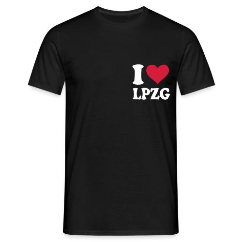 I love Leipzig T-Shirt Herren schwarz - Männer T-Shirt