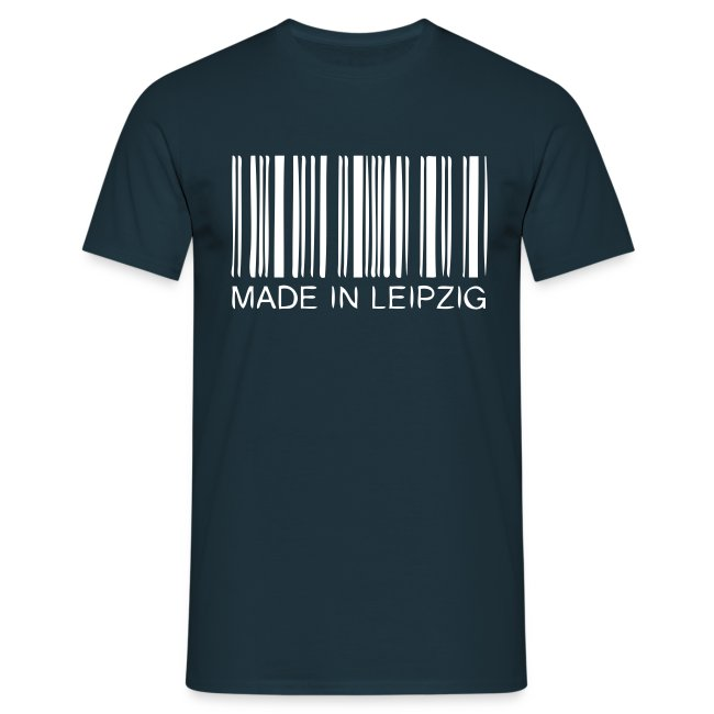 Made in Leipzig T-Shirt Herren blau