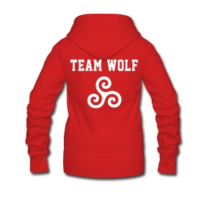 Team WOLF - ZipUp (S Logo, NBL) - Women's Premium Hooded Jacket