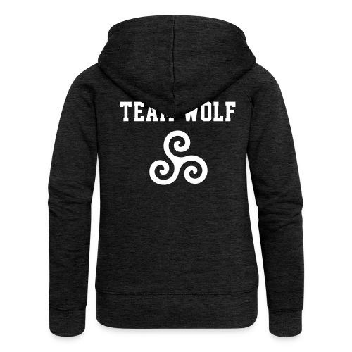 Team WOLF - ZipUp (S Logo, NBL) - Women's Premium Hooded Jacket