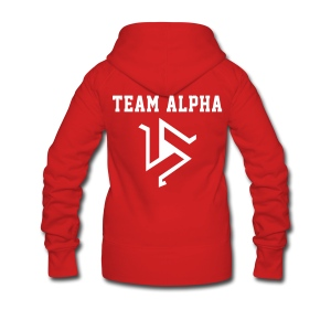 Team ALPHA - ZipUp (S Logo, NBL) - Women's Premium Hooded Jacket