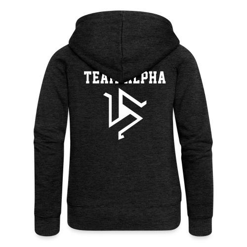 Team ALPHA - ZipUp (S Logo, NBL) - Women's Premium Hooded Jacket