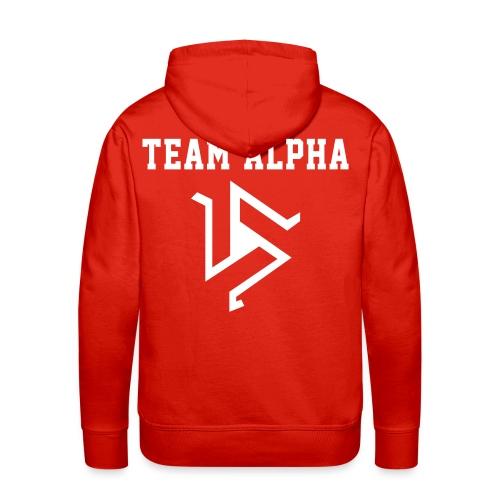 Team ALPHA - Hoodie (XL Logo, NBL) - Men's Premium Hoodie