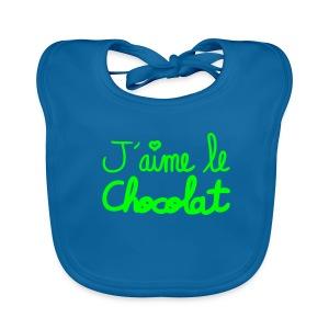 j'aime le chocolat - Bavoir bio Bébé