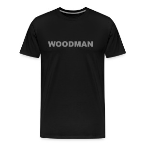 Silver WOODMAN, T-Shirt, black - Men's Premium T-Shirt