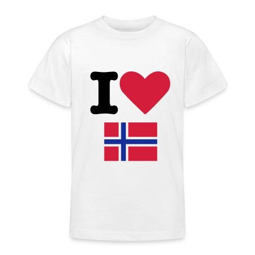 I <3 NORWAY - T-skjorte for tenåringer