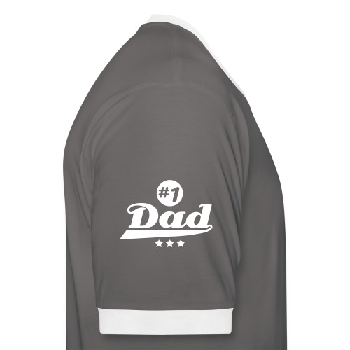 number_1_dad___f1 - T-shirt contraste Homme