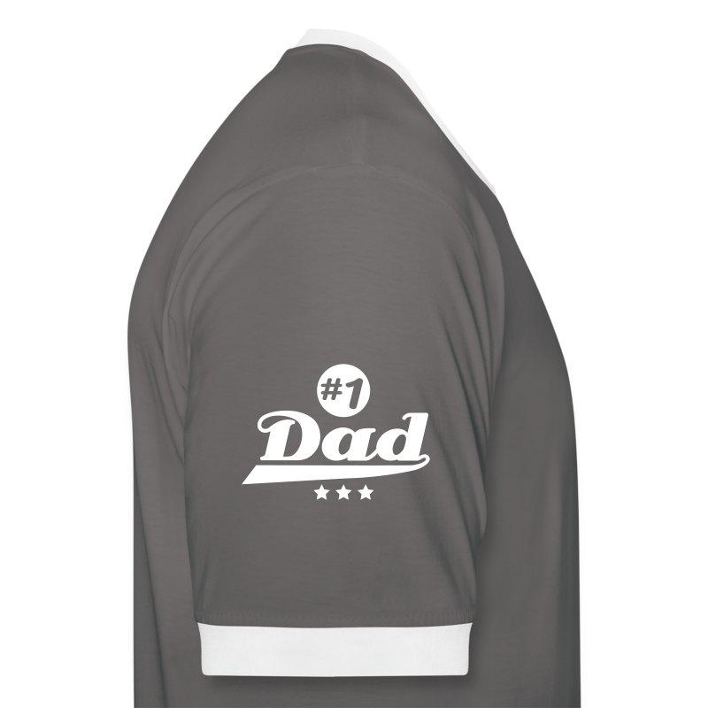 number_1_dad___f1 - T-shirt contrasté Homme