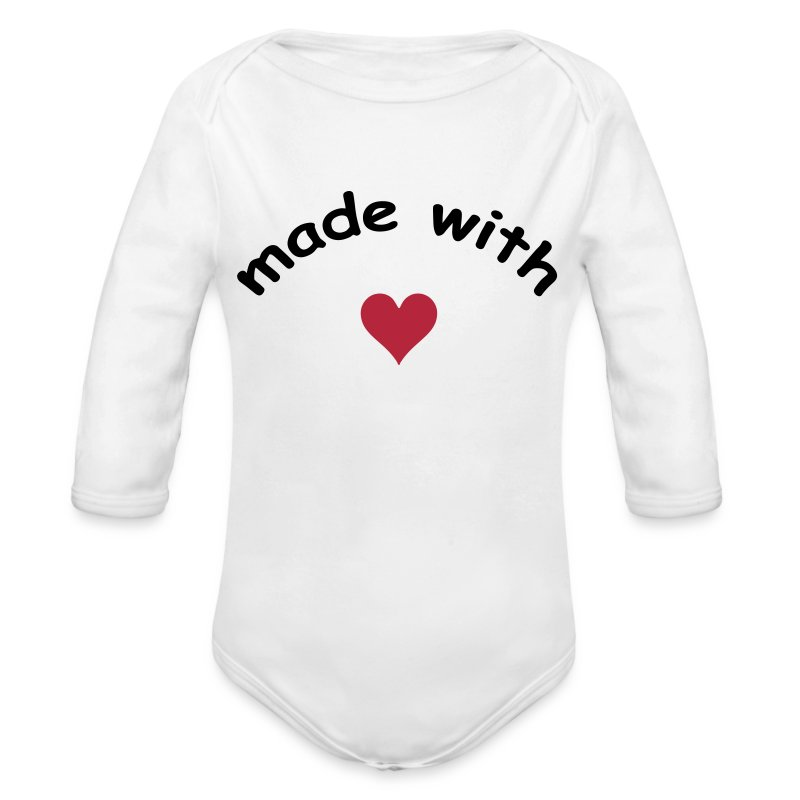 made with heart herz love  - Body bébé bio manches longues