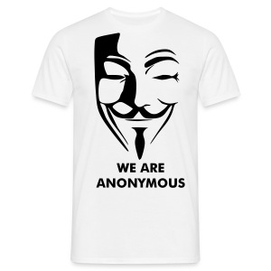 T SHIRT WE ARE ANONYMOUS - T-shirt Homme