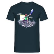 T-Shirts ~ Men's T-Shirt ~ I Can Swing My Sword (Minecraft Diamond Sword Song)