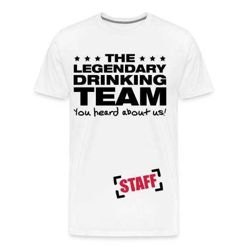 Drunken Staff - Herre premium T-shirt