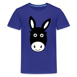 Cute Donkey Teenage T-Shirt - Teenage Premium T-Shirt