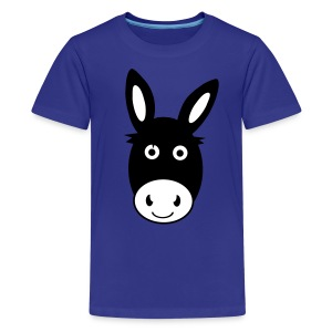 Cute Donkey Teenage T-Shirt - Teenage Premium T-Shirt