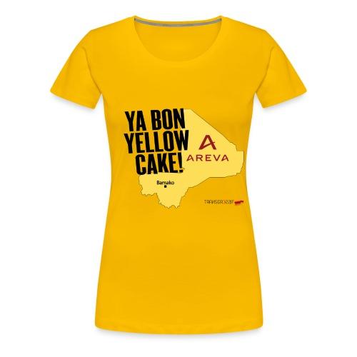 T-SHIRT premium femme yabon yellow cake - T-shirt Premium Femme