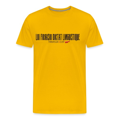 T-SHIRT premium homme loi fiorasio  - T-shirt Premium Homme