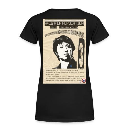 T-SHIRT premium femme lady Ashton (avis à la population) - T-shirt Premium Femme