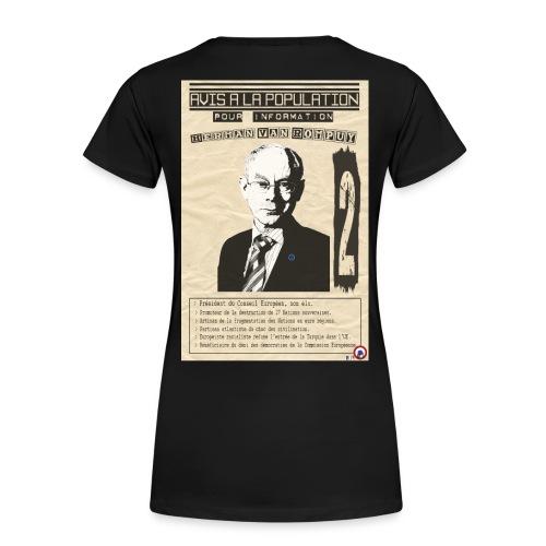 T-SHIRT femme Van Rompuy (avis à la population) premium - T-shirt Premium Femme