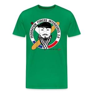 T-SHIRT premium homme ffi anonymous VERT - T-shirt Premium Homme