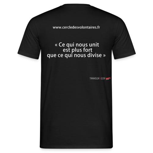 T-SHIRT standard homme cercle des volontaires phrase - T-shirt Homme