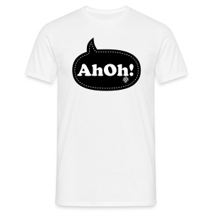 AhOh!Bubble White/Black - Men's T-Shirt