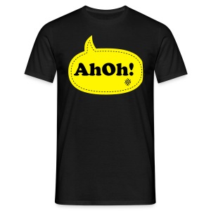 AhOh!Bubble Black/Yellow - Men's T-Shirt