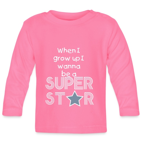 SUPER ST*R T-Shirt  - Baby Long Sleeve T-Shirt