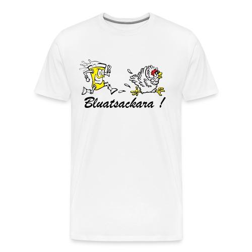 Bluatsackara Leiwö fia dBurschn weiß - Männer Premium T-Shirt