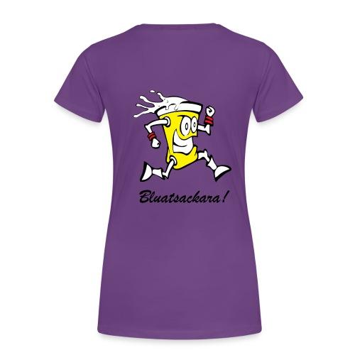 Bluatsackara Leiwö fia Damen lila - Frauen Premium T-Shirt
