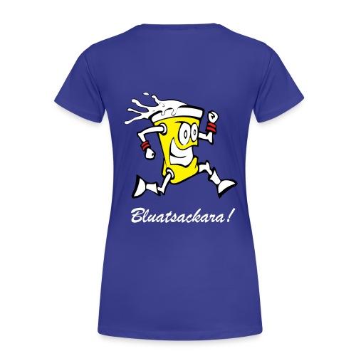 Bluatsackara Spagettileiwal blau - Frauen Premium T-Shirt