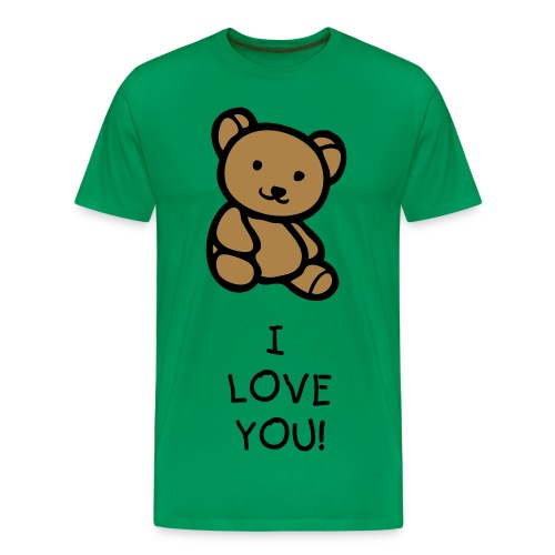 Teddy Bear I Love You T-Shirt - Men's Premium T-Shirt